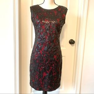 CACHE Sequin Overlay Formal Evening Dress—SZ. 6